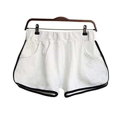 Pantaloni Verde Estate Corti White Palestra Sport Yoga Cintura l Skinny Aibarle Allenamento Short q5PRHnCP