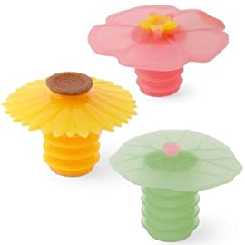 Charles Viancin Wine Bottle Stopper - Lily Pad, Sunflower & Hibiscus 95 Charles Viancin Wine Bottle Stopper - Lily Pad, Sunflower & Hibiscus