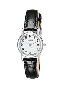 """Citizen Women's EW1270-06A """"Eco-Drive"""" Stainless Steel and Black Leather Watch"""