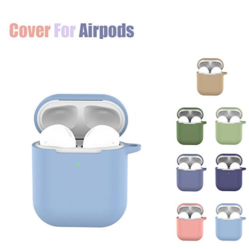for Apple AirPods 2, Meidexian888 Silicone Cover Skin Charging Case, Anti-Lost Scratch Shock Resistant