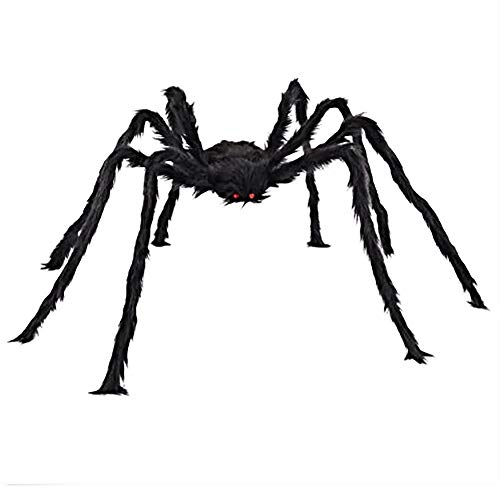 Liping Hairy Giant Spider Decoration Halloween Prop Haunted House Decor Party Toy Gift Toys (5.9in) -