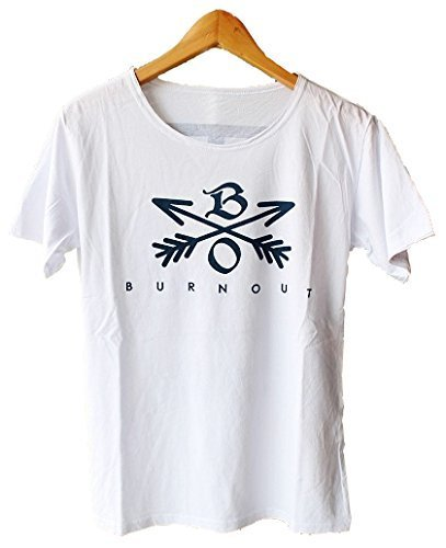 【色 サイズ 選択可】 Burnout(バーンアウト) NEW CROSSED ARROWS T-SHIRT クロスドアロー バックプリント Tシャツ B01EVG2ZYC  ホワイト/ネイビー L
