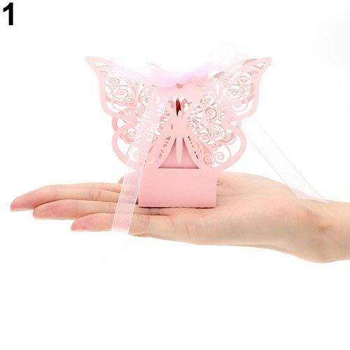 Caja de Dulces con diseño de Mariposas y Cinta para ...