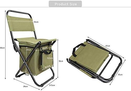 GFF Silla de Respaldo Plegable PVC Resistente al Agua portátil Bolsa de Termo de Hielo Taburete de Pesca para Pesca Salir Picnic Camping Viajes
