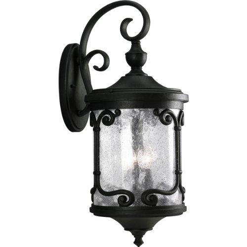 Progress Lighting P5912-80 3-Light Augusta Wall Lantern, Forged -