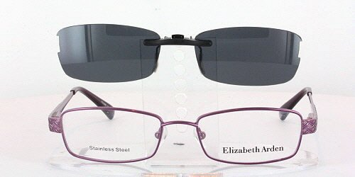ELIZABETH ARDEN EA1089-50X17 POLARIZED CLIP-ON SUNGLASSES (Frame NOT Included)