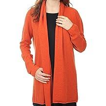 Balldiri 100% Cashmere Kaschmir Damen Strickjacke feminin 2-fädig orange