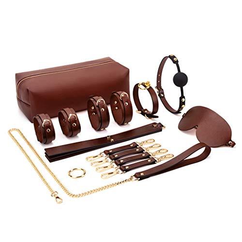 Mwergkou Bondageromance Kit for Couples, SM Game Sxx Toy 9 Pcs, Couples Game Sxx Toys