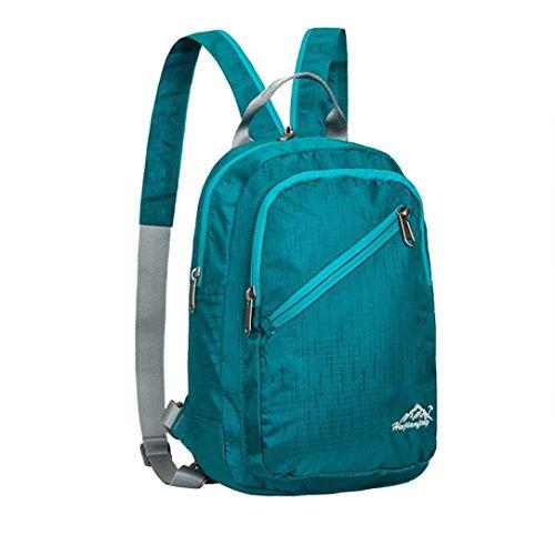 Clode® Mini Outdoor Nylon Außen Rucksack-Schule-Beutel Daypack Sport-Wasserdichte Tasche taschen Hellblau