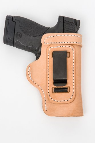 m 40Cal Pro Carry LT CCW IWB Leather Gun Holster New Natural ()