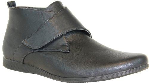 CORONADO Men Boat Shoe COSTA-1 Classic Comfortable Boat/Shoe with a Moc-Stitched Toe Black 7.5M