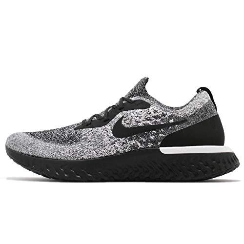 Nike Men Epic React Flyknit, Black/Black-White Black/Black-White