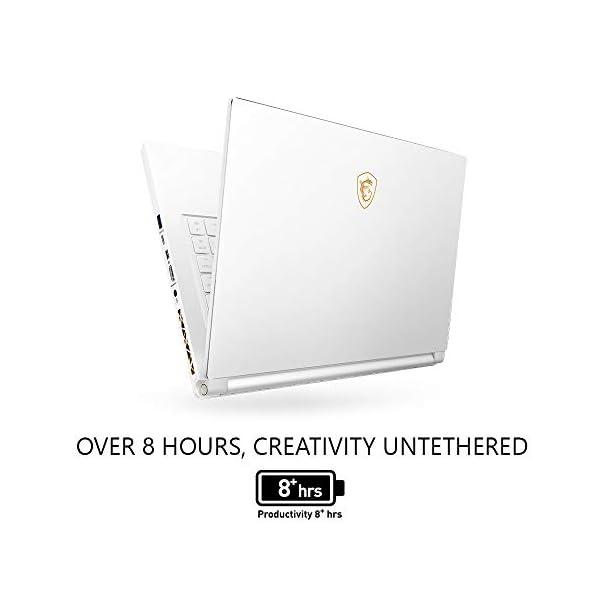 """MSI GS65 Stealth-002 15.6"""" Razor Thin Bezel Gaming Laptop NVIDIA RTX 2070 8G Max-Q, 144Hz 7ms, Intel i7-8750H (6 cores), 32GB, 512GB NVMe SSD, TB3, Per Key RGB, Win 10, Matte Black w/ Gold Diamond cut 3"""