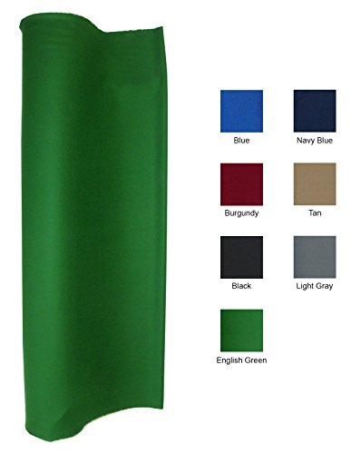 English Green 21 Ounce Pool Table Felt Billiard Cloth Choose for 7, 8 or 9' Table (for 8' table)