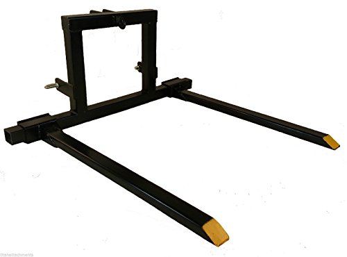 Tractor 1 Category - Titan 3 point hitch Pallet Fork Attachment Category 1 tractor carryall 3PT-PF