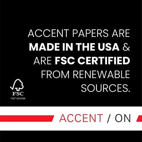 "Accent Opaque Cream Printer Paper, 8.5"" x 11"" 28lb Copy Paper – 500 Sheets (1 Ream) – Premium Computer Paper with Smooth Finish, 97 Bright, 104gsm, Multipurpose Warm White Copy Paper – 188176R"