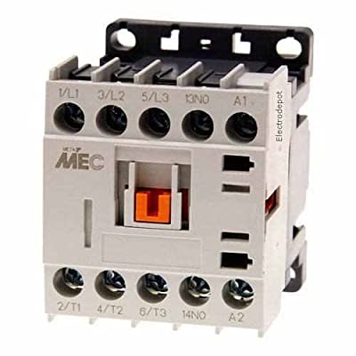 Miniature Power Contactor 3 Pole, 20Amp 600V, 12VDC Coil UL 508 12V
