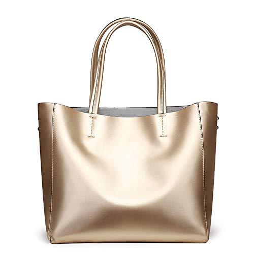 Vintage Bolsas Mujeres Leather Cuerpo Handle Gran Cruz Golden Top De Handbag Dadongll Hombro Split Cow Ladies Tote Capacidad 6wdcF6qXg