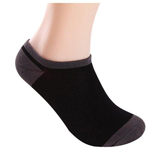 Mannen Boot Sokken, Inkach 5 Paar Heren Bamboevezel Loafer Boot Sokken Voering Laag Uitgesneden Sokken Zwart