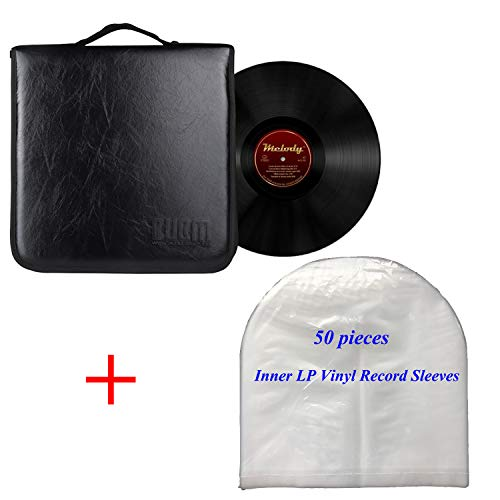BUBM Turntable Vinyl Record Player Classic Portable Suitcase LP Long Play Gramophone Microgroove Record Case Handbag Sleeve by BUBM