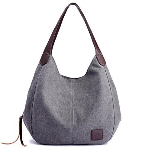 Di Per A Top Tracolla Borsa Beige Dello Borse Shopping Bag Ourbag Maniglie Le Tela Donna Casual Grigio 0zwSdIq