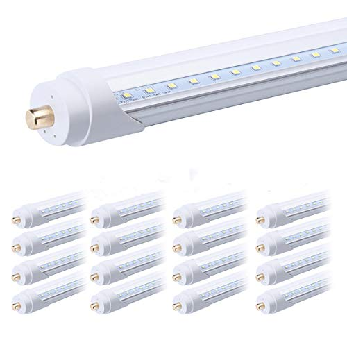 FALANFA Single Pin T8 96'' 8ft LED Tube 45W, 8' LED Fluorescent Tube Replacement,AC 85V 277V Input, 6000K Bright White,4500LM Frosted Lens Cover Super Bright 16-Pack by FALANFA (Image #7)