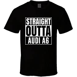 Straight Outta Audi A6 Compton Parody Car Lover Fan T Shirt 2XL Black