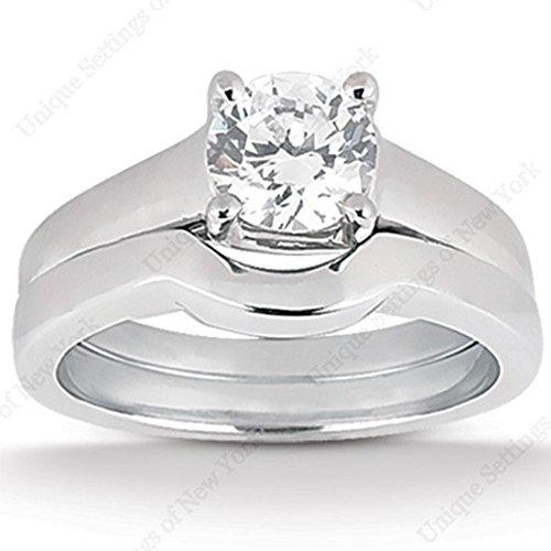 3.5 Ct Diamond Engagement Ring Bridal Set Round Pave 14k White (3.5 Ct Diamond)