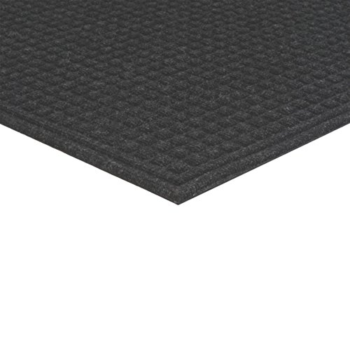 Apache Mills Textures Squares Entrance Door Mat, Onyx, 3-Feet by - Recycled Mat Fiber
