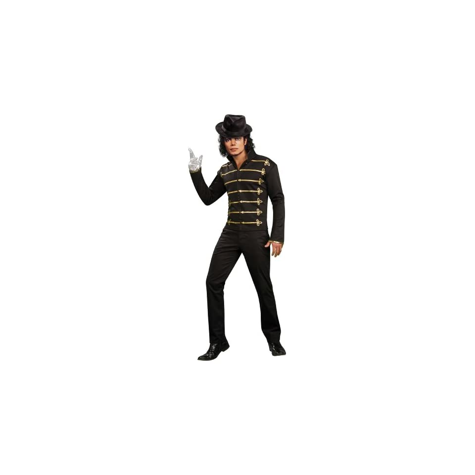 Lets Party By Rubies Costumes Michael Jackson Military Printed Jacket Adult Costume / Black   Size Large