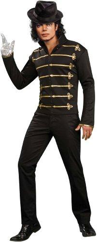 Michael Jackson Adult Costume Black Military Jacket - Medium (Michael Jackson Glove And Socks)