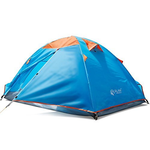 REDCAMP 2 Persons Camping Tent,Backpacking Waterproof Tent,3 Season Two-function Outdoor Tent for Hiking,Blue