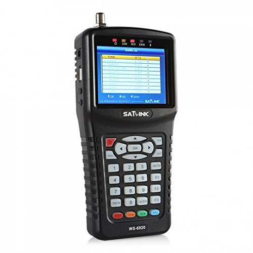 SATLINK WS-6920 DVB-S/S2 HD Digital Satellite TV Finder with MPEG-2/MPEG-4, Digital Satellite Signal Finder Meter, Black