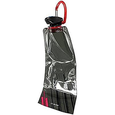 SODIAL(R) Bolsa de Agua 1pzs 700 ML Bolsa de Agua Reutilizable Plegable Botella de Bebida Botella de Bicicleta BPA de Libre Negro