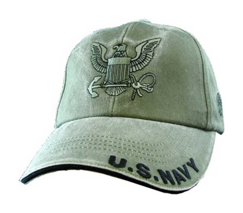 US Navy Olive Drab Green with Anchor Ball Cap (Anchor Ball Cap)