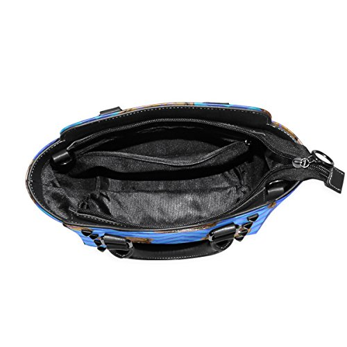 Handle Cute Chevron Women's Owls PU Bags TIZORAX Leather Top Handbags Shoulder Fqw8EEd