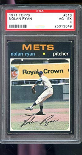 - 1971 Topps #513 Nolan Ryan New York Mets PSA 4 Graded Baseball Card