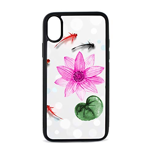 - iPhone Koi Ink Painting Squid Abstract Inlaid Floral Print Art Painting Digital Print TPU Pc Pearl Plate Cover Phone Hard Case Accessories Compatible with Protective Apple Iphonex/xs Case 5.8 Inch