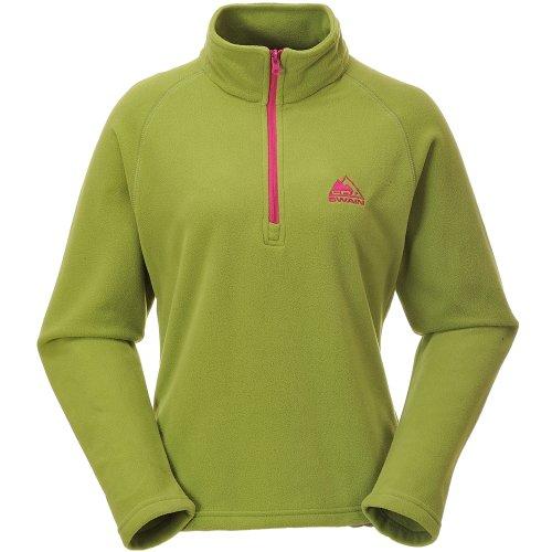 Cox Swain Women Fleecepullover Base, Farbe: Green/Pink Zipper, Größe: XL