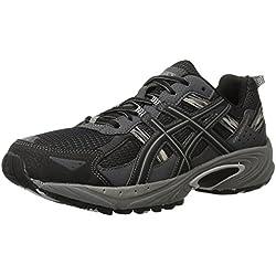 ASICS Men's Gel Venture 5 Running Shoe, Black/Onyx/Charcoal, 14 4E US