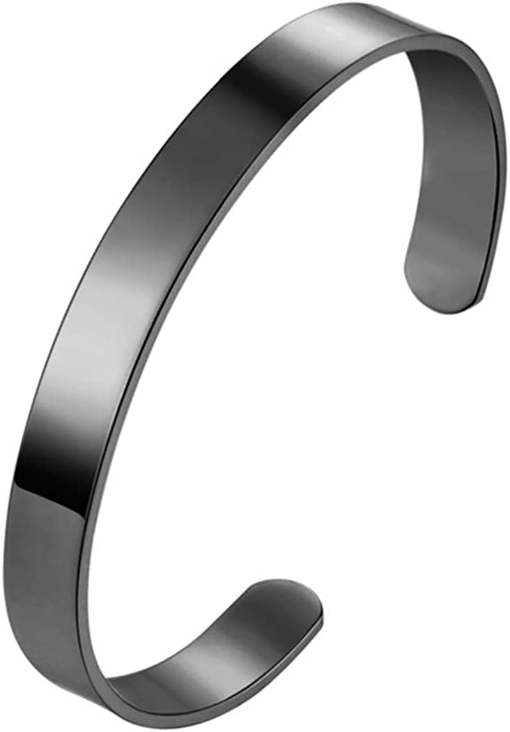Bangles Bracelets for Women/Men and Cuffs Silver Charms Vintage Couples Stainless Steel Bangles