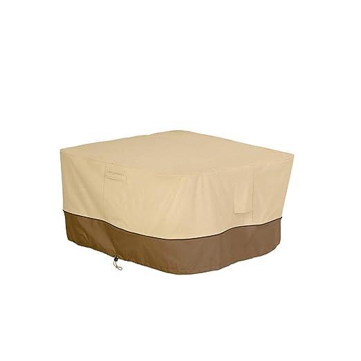 Fundas Muebles Jardín Cubierta De Mesa Cuadrada De Muebles De Exterior Revestimiento PVC De Tela Oxford A Prueba De Lluvia A Prueba De Polvo Protector Solar 107X107X56CM: Amazon.es: Hogar