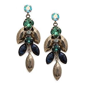 Sorrelli Assorted Crystal And Metal Earrings, Blue-Green, 2
