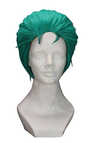 DAZCOS Roronoa Zoro Short Green Anime Cosplay Wig -