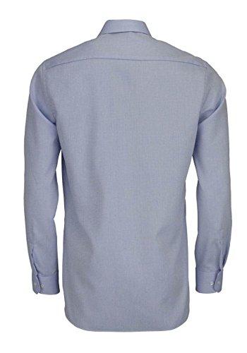 ETERNA Modern Fit Hemd Langarm mit Brusttasche Muster hellbau