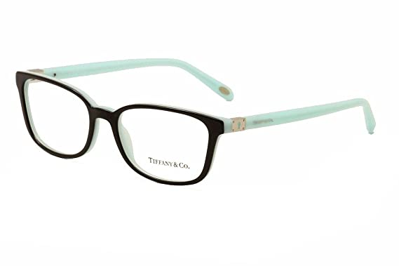 07944e32193e Amazon.com  TIFFANY Eyeglasses TF 2094 8055 Black Blue 54MM  Clothing