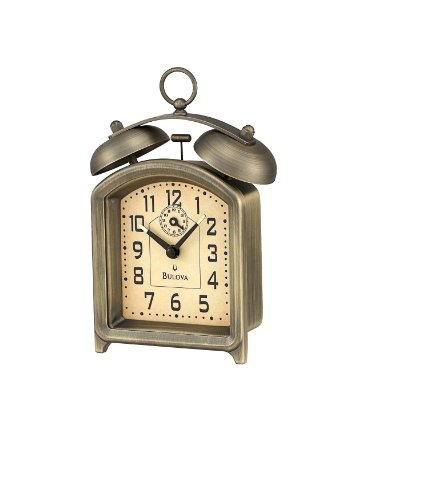 Bulova B8128 Holgate Alarm Collection Clock - Bell Key Wind Alarm Clock