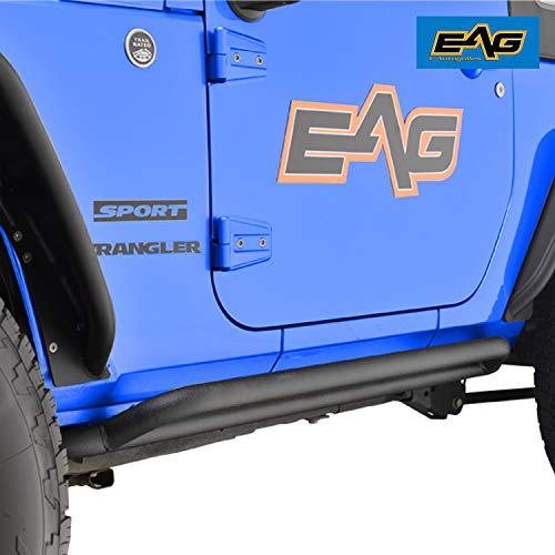 - EAG Side Armors Tubular Rocker Guards Fit for 07-18 Jeep Wrangler JK 2 Door - Pair