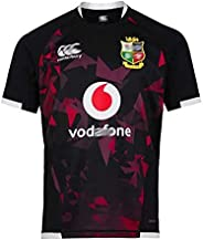 Men's Rugby Jersey 2021 Lastest UK Lions Embroidered Rugby Shirt Short Sleeve Rugby Fan T-Shirt, Black