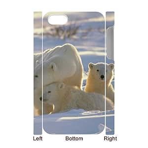 3D Bumper Plastic Case Of Polar Bear customized case For Iphone 4/4s